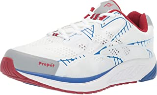 Propét Women's Propet One LT Running Shoe Sneaker, White/red, 6 XX-Wide