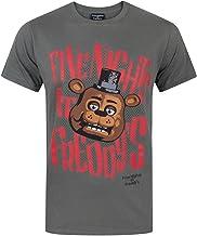 Five Nights At Freddy Fazbear - Camiseta para Hombre, Color Gris Oscuro