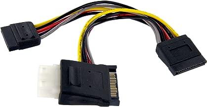 StarTech.com SATA to LP4 with 2X SATA Power Splitter Cable - Power Splitter - SATA Power (M) to 4 pin Internal Power, SATA Power (F) - 6 in - PYOLP42SATA