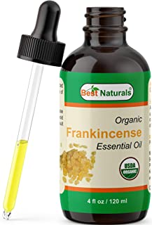 Best Naturals Certified Organic Frankincense Essential Oil with Glass Dropper Frankincense 4 FL OZ (120 ml)