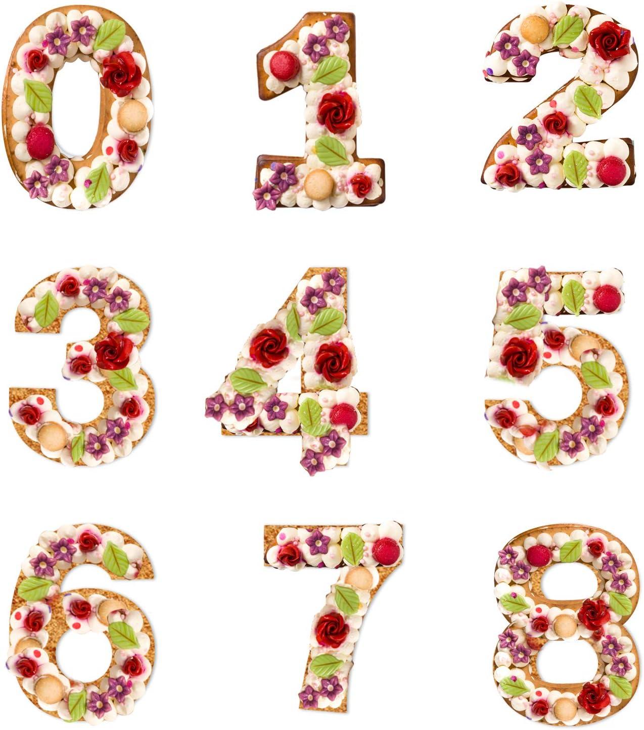 10 pollici Stampo per Torta Grande per Torta Nuziale Taglio della Torta Stampo per Glassa con Numeri da 0 a 8 Taglio della Torta Stampo per Glassa,Crema,Torta alla Frutta,Torta Nuziale Torta Nuziale
