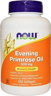 NOW Foods Evening Primrose Oil 500mg 500 (2 Packs of 250 softgels)