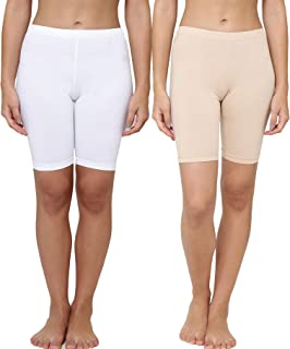 LEADING LADY Women's Plain/Solid Boy Shorts (Pack of 2) (431_ Multicoloured_ Small)