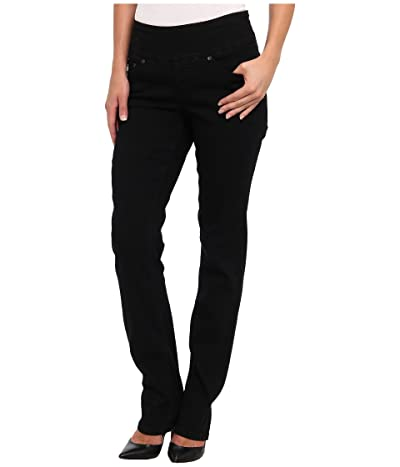Jag Jeans Peri Pull-On Denim Straight Leg Jeans (Black Void) Women