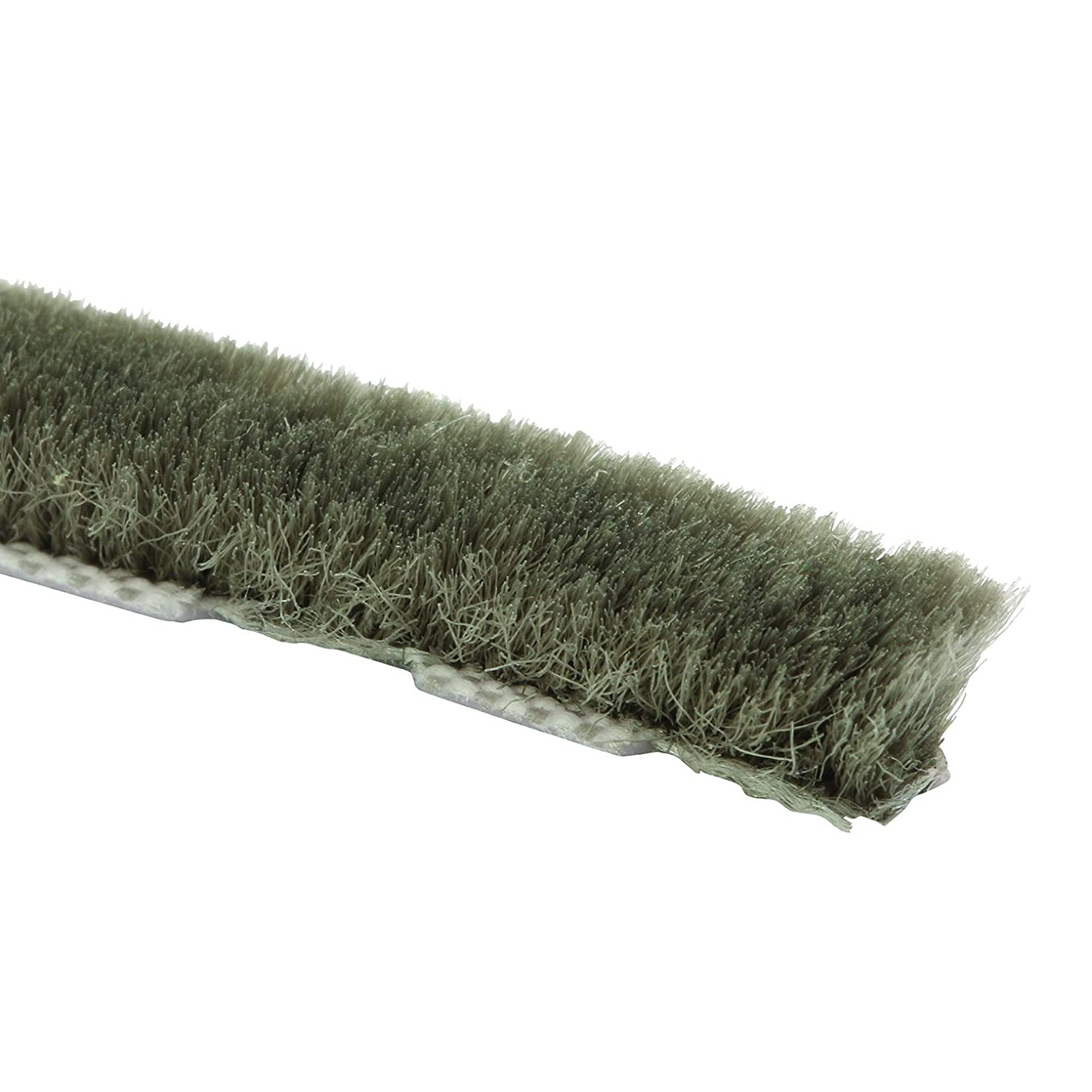Prime-Line Products P 8760 Zipper Pile Weatherstrip for Windows & Doors, 250 ft., Grey, Owens Corning, Non-Adhesive