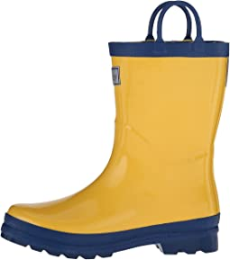 Yellow & Navy Rainboots (Toddler/Little Kid)