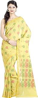 Chandrakala Women's Cotton Silk Chanderi Indian Ethnic Banarasi Saree with Unstitched Blouse Piece(1085)
