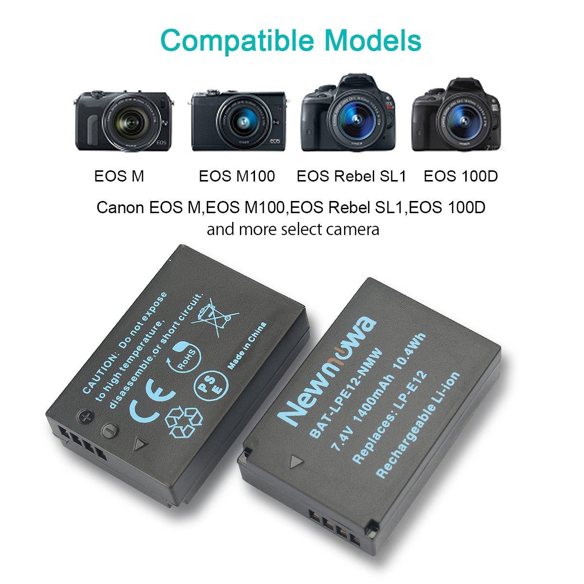 Reemplazo de la batería 7.2V 875mAh LP-E12 para Canon EOS M50 M2 M100 M10 100D M
