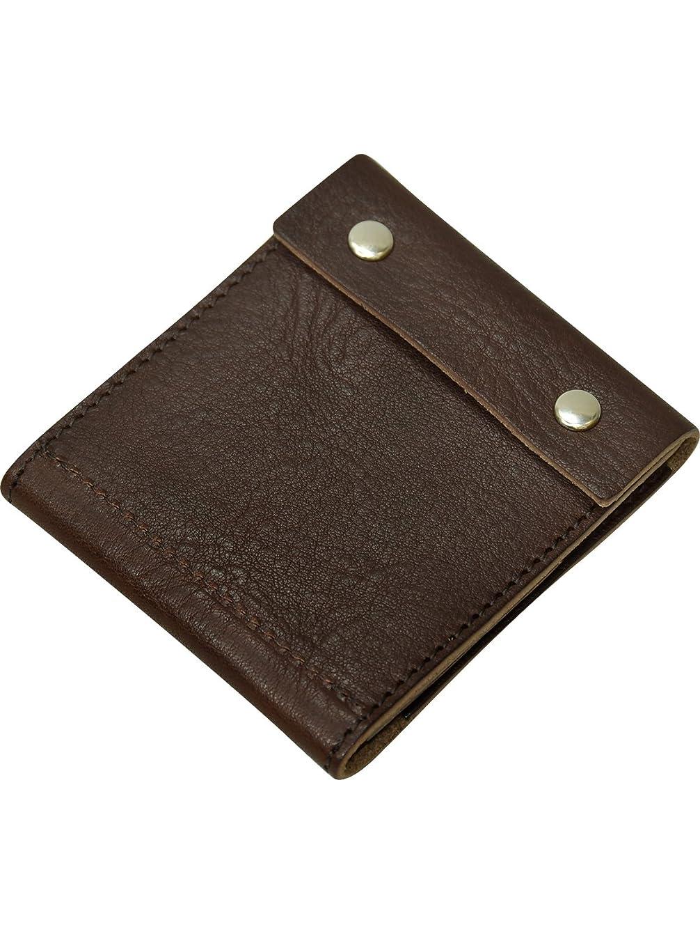 ばか郵便屋さんマウンド[プレックス]PREX 日本製 栃木レザー コンパクト 財布 CL015 ダークブラウン