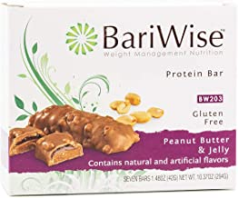 BariWise Protein Bar/Diet Bars - Peanut Butter & Jelly (7ct), High Protein, Trans Fat Free, Aspartame Free
