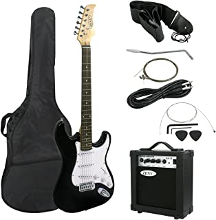 """ZENY 39"""" Full Size Electric Guitar with Amp, Case and Accessories Pack Beginner Starter Package (39"""", Black)"""