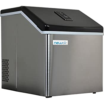 NewAir Countertop Clear Ice Maker Machine, Makes 40 lbs of Ice, Portable Stainless Steel, ClearIce40