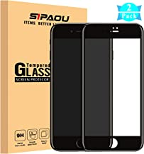 [2 Pack] iPhone 8 Screen Protector, SIPAOU iPhone 7 Full Coverage Tempered Glass Screen Protector Film with Soft Frame [Edge to Edge Protection][No Break Edge] for iPhone 8/7 4.7 Inch-Black
