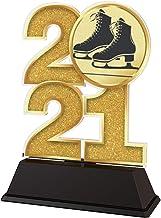 Trophy Monster 2021 Schaatsen Laarzen 85mm Trofee Goud, Zilver of Brons Award | Gemaakt van Gedrukt Acryl | Kies uit 4 maten