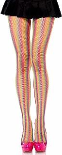 Leg Avenue Women's Lurex Shimmer Striped Fishnet Tights