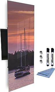 Armoire à clés 80x30 cm avec panneau magnétique en verre fond d'impression numérique 581974729