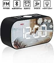 AMZLIFE Alarm Clock Radio with Wireless Bluetooth Speaker FM Radio Night Light 5