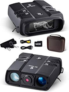 Image of Night Vision Binoculars 3.6-10.8x31mm 64GB 1080P High Power Digital Binoculars with Night Vision Infrared Spy Gear for Hunting and Surveillance External Power Supply