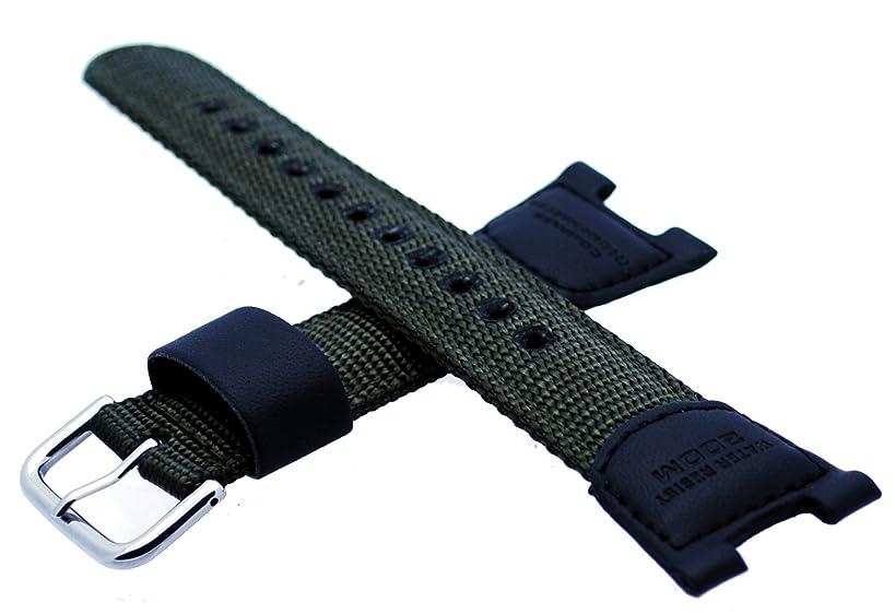 Genuine Casio Illuminator Series Olive Green Nylon 25mm Watch Strap- 10304188