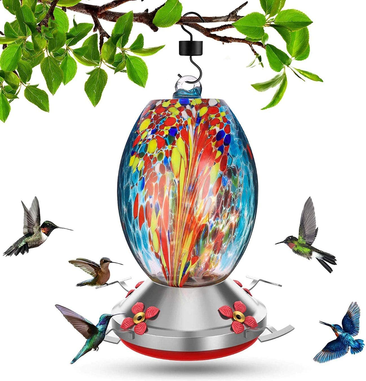 Hummingbird Feeders for Outdoors 32 Leak-Proof Mail order Popular overseas Ounces Rust-Pr