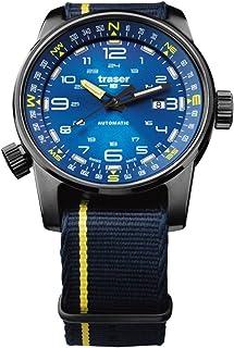 Traser p68107719パスファインダー自動ブルースイス腕時計、ブルー/イエローNATOストラップ