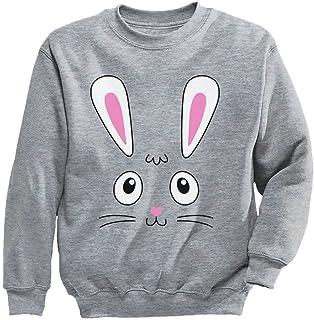 かわいいバニーフェースギフト キュートバニーフェースプレゼント ユニークバニー贈り物 スイートバニーの贈り物 かわいいウサギ キッズスウェットシャツ
