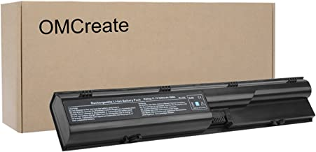 OMCreate Battery Compatible with HP Probook 4540S 4530S 4440S 4430S 4545S 4535S 4330S Series, fits P/N 633805-001 HSTNN-IB2R 633733-321 - 12 Months Warranty [Li-ion 6-Cell]