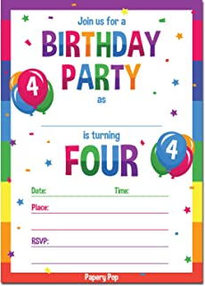 Best 4 year old boy birthday party invitations Reviews