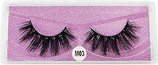 PASDD False Eyelashes, 1 Pairs of 3d Eyelashes With Natural Look, Fake Lashes Of Fake Mink, Reusable, Handmade Soft Eyelas...