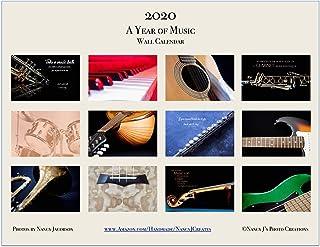 2020 A Year of Music Wall Calendar Fine Art Musical Instrume
