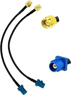 Vecys Cable de Antena GPS Fakra C a Cable de Extensión de Antena de Enchufe SMA RG174 15CM 5.9 Pulgadas para Sistema de Na...