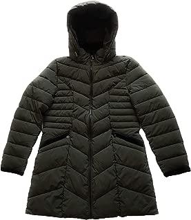 Preston & York Women Puffer Hooded Coat, Olive Green, Size L