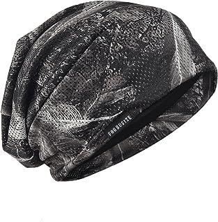 サマーニット帽 メンズ フリーサイズ ゆるシルエットのニットキャップ メンズニット帽 薄手 通気性 羽毛柄 B091…