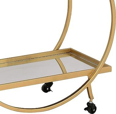 FirsTime & Co. Gold Odessa Bar Cart, 27.5 x 14 x 33 (70123)