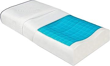 Beautissu Poduszka żelowa Memory Foam BeauErgo GK żelowa poduszka konturowa – 55 x 35 x 11 cm – ergonomiczna poduszka z pi...