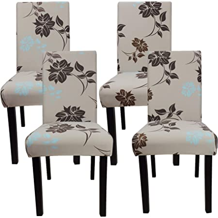 Home Removable Floral Dining Room Chair Covers Wedding Stretch Seat Cover New