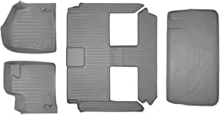 MAXLINER Floor Mats 3 Rows and Cargo Liner Behind 3rd Row Set Grey for 2008-2018 Caravan / Town & Country (Stow'n Go Only)