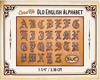 Springfield Leather Company CarveRite Tooling Patterns (Old English Alphabet)