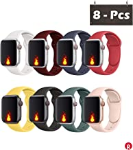 Oribox Compatible for Apple Watch Band 38mm 40mm, Soft Silicone Sport Wristband for iWatch Series...