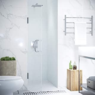 ANZZI Fellow 72 x 24 inch Frameless Hinged Shower Door in Polished Chrome | Clear Tempered Deco Glass Door for Shower | Wa...