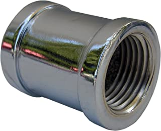 LASCO 32-1425 1/2-Inch Female Pipe Thread Chrome Plated Brass Coupling