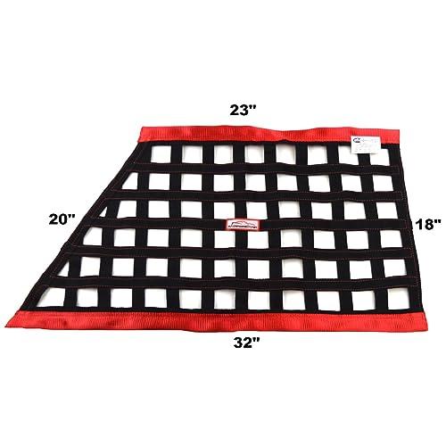 "Car 13/"" x 13/"" Safety Equipment Red Green Window Net Dirt  Ribbon NEW"