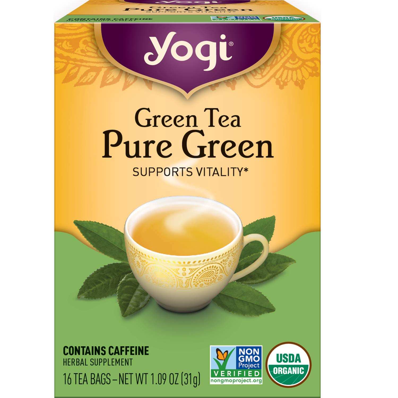 Yogi Tea - overseas Green Under blast sales Pure 4 Pack Supports Vitality G