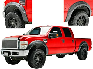 Hollywood Accessories for 2011-2016 Ford F250/350 Super Duty Texture Pop Out Rivets Front and Rear Fender Flares 4pcs with...