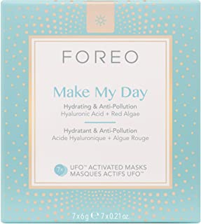 Foreo Make My Day Hydrating and Anti-Pollution UFO Activated Mask for Unisex - 7 x 0.21 oz Mask