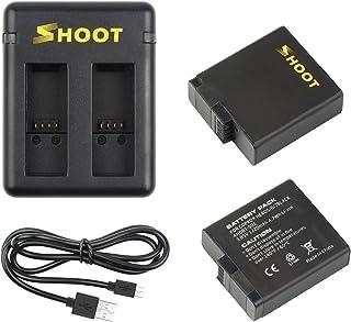 SHOOT Baterías con Cargador de Batería Triple para Gopro Hero 7 Black Hero 2018 Hero 5 Black Hero 6 Black(2pcs Baterías)