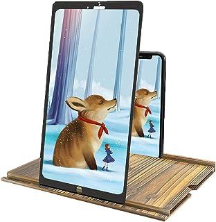 "12"" 3D Phone Screen Magnifier, HD Phone Screen Amplifier Adjustable Horizontal And Vertical Screen, Smartphone Screen Magn..."