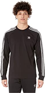 [adidas(アディダス)] メンズタンクトップ・Tシャツ 3-Stripes Long Sleeve Tee Black 2 S [並行輸入品]