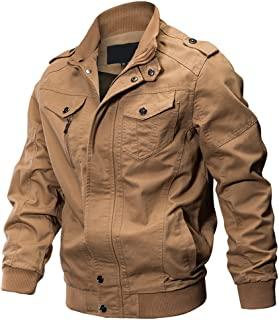 WEEN CHARM Men's Military Jacket Casual Cotton Outdoor Windbreaker Jacket