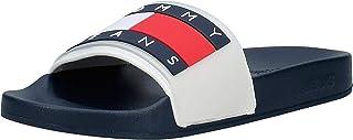 Tommy Hilfiger Translucent Flag Pool Slide Men's Fashion Sandals